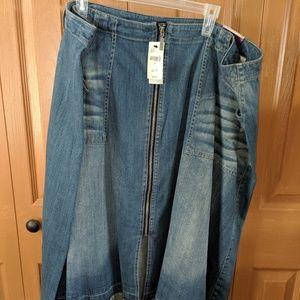 NWT Lane Bryant Denim Skirt size 26W
